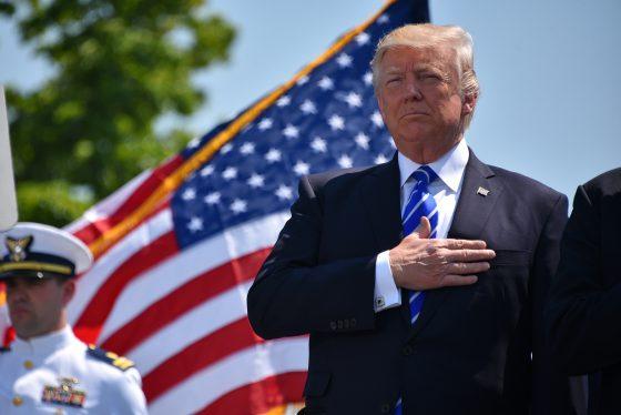 Trump in public