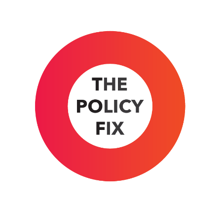Our podcast logo - The policy fix